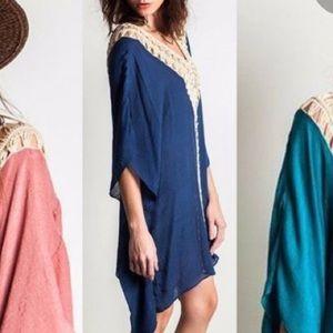 Umgee Boho Crochet Caftan Cover Up
